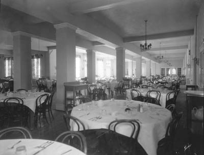 the recently refurbished dining room in waller hall